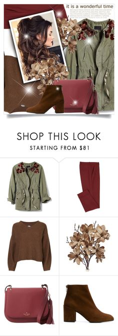 """""""Untitled #810"""" by beautifulplace ❤ liked on Polyvore featuring Hayden-Harnett, Banana Republic, Anrealage, Kate Spade and Stuart Weitzman"""
