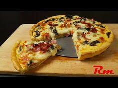 Κις λορέν (Quiche lorraine) Tasty Videos, Food Videos, Quiche Lorraine, Pizza Tarts, Hawaiian Pizza, Vegetable Pizza, Vegetables, Cooking, Breakfast