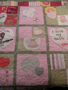 Custom Baby Clothes Memory Quilt Hand by blockbyblockquilting