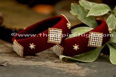 Buy Indian Designer Bangles & Bracelets Online From The Aspire High Diamond Bracelets, Bangle Bracelets, Silk Thread Bangles Design, Bangle Set, Pearl Color, Diamond Shapes, Wedding Jewelry, Jewelery, Fancy