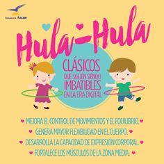 ¿Jugamos al hula hula? Juegos para niños y niñas. Beneficios