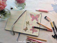 Edgarten - Gartenblog: 📘  Bullet Journal - Mai mit Schmetterlingen - Tag 47 Bullet Journal, Notebook, Mai, Homeschooling, Day Planner Organization, Homeschool, The Notebook, Exercise Book, Scrapbooking