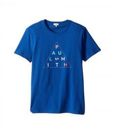 Paul Smith Junior - Short Sleeve Navy Paul Smith Logo Tee (Big Kids) (Deep Blue) Boy's T Shirt