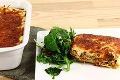 Fedtfattig kyllingelasagne med grøntsager Lasagna, Squash, Carne, Quiche, French Toast, Recipies, Chicken, Breakfast, Ethnic Recipes