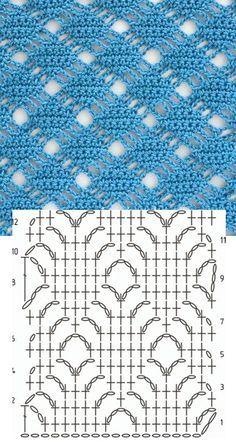 Very pretty #crochet stitch chart.                                                                                                                                                     Mais