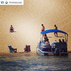 Sand sledding?! Yep it's a real thing at the Silver Lake Sand Dunes! #MiBeachtowns : via @thinkdunes #silverlakesanddunes #SilverLakeMI #puremichigan #midwestmoment #sanddunes