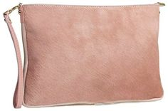New Trending Clutch Bags: Big Handbag Shop Small Genuine Leather with Calf Fur Zip Clutch Shoulder Bag (Baby Pink). Big Handbag Shop Small Genuine Leather with Calf Fur Zip Clutch Shoulder Bag (Baby Pink)  Special Offer: $64.99  200 Reviews Trendy and stylish calf skin short hair on leather twin strap small evening clutch bag Height 15 cm, Width 20.5 cm, Depth 3 cm, Strap Drop 56cm , Long Strap...