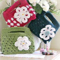 With a Grateful Prayer and a Thankful Heart: Finished Crochet Boutique Bags
