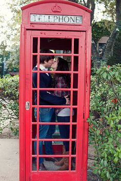 British Telephone Booth - These things are so cool!  Will be taking plenty of pictures with them whenever we make it to England someday.