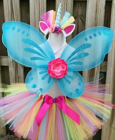 Toddler Unicorn Costume, Baby Girl Halloween Costumes, Unicorn Halloween, Halloween 2018, Girl Costumes, Unicorn Outfit, Unicorn Headband, Rainbow Unicorn, Trending Outfits