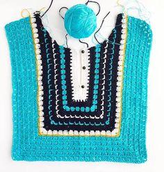 Crochet & Knitting Patterns by Natalia Kononova for your Outstanding Stitches. Crochet & Knitting Patterns by Natalia Kononova for your Outstanding Stitches. How to Crochet a Little Black Crochet Dress - Crochet Ideas This Pin was discovered by Ани New Crochet Yoke, Mode Crochet, Crochet Shirt, Crochet Jacket, Crochet Diagram, Crochet Cardigan, Diy Crochet, Crochet Stitches, Crochet Vests