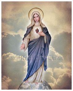 Het onbevlekt hart van Maria hele lichaam door PortraitsofSaints