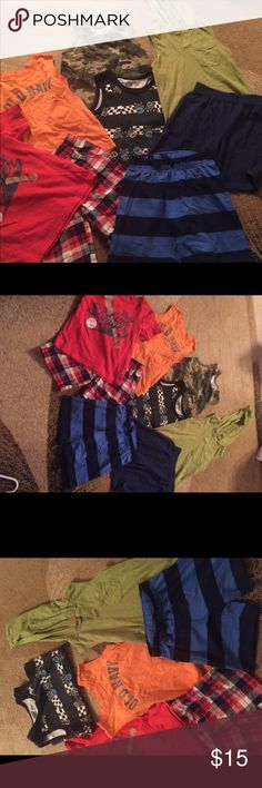 Toddler boys lot of tanks/shorts 4t/5t Lot of boys clothes in excellent condition marked 5t but I thought they fit more like a 4t ..Check out my other listing for women and kids time to part with some of my favorite things 😀 most just came out of storage bins hence the wrinkles on some items but if I had to iron them all I would never get to list them lol..all items will be pressed as they sell Shirts & Tops Tees - Short Sleeve