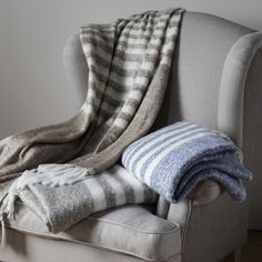 Mohair Stripe throw #meyerandmarsh #throw #blanket