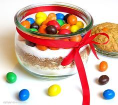 Rezepte mit Herz   ♥: Backmischung im Glas: Cookies mit M&Ms