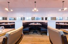 Editor markup for St. [Photos: Christopher Watkins] Opening today for lunch and dinner in Buckhead is St. Cecilia, the highly. Restaurant Lighting, Restaurant Design, Fries, Ford, Menu, Atlanta, Table, Furniture, Home Decor