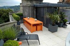 Fancy - Modern Roof Garden Ideas Roof Terrace Design, Patio Design, Bed Design, Home Design, Modern Design, Custom Design, Small Urban Garden Design, Terrasse Design, Contemporary Patio