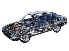 1984-1986 Alfa Romeo 90 (162A) - Illustration attributed to Giulio Betti