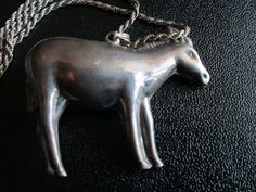 Vintage Sterling Donkey Pendant on Sterling by BluePearlVintage