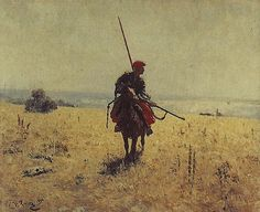 Repin Paintings   Cossack in the steppe