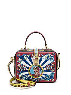 Dolce   Gabbana - Multicolor Textured Leather Top-Handle Bag 9c6f4e711d9be