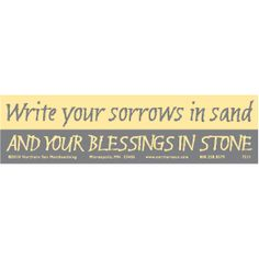 ...Blessings in stone