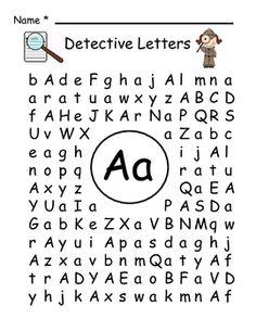 find a letter letter detective kindergarten reading pinterest