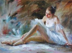 """Ballerina (14 )"" - Original Fine Art for Sale - © Kelvin Lei"