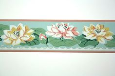 Full Vintage Wallpaper Border  TRIMZ  Pink and by FondlyVintage