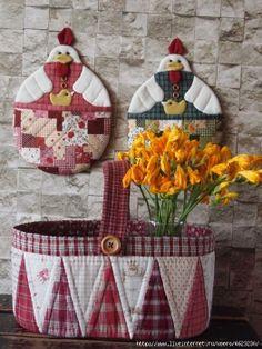 decorazione cucina cestino presine