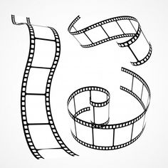 Set of hand drawn film reels Free Vector