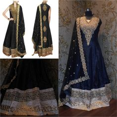 Features Black raw silk long anarkali for women.  Product Info :  Size : Free Color : Black Fabric : Net and Raw silk Type : Embroidered Occasion : Festive, Wedding, Ceremony, Party Neck Type : V neck  Sleeve Type : Sleeveless  Sale Price : 2650 INR Only ! #Booknow  CASH ON DELIVERY Available In India !  World Wide Shipping ! ✈  For orders / enquiry 📲 WhatsApp @ +91-9054562754 Or Inbox Us , Worldwide Shipping ! ✈ #SHOPNOW