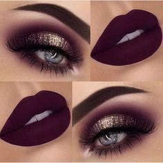 I like the color of the make up look