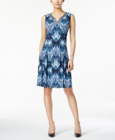 JM Collection Sleeveless Printed Dress, Only at Macy's | macys.com