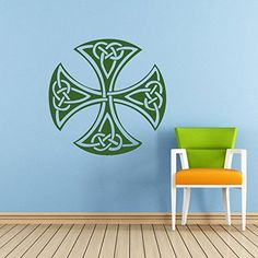 Celtic Cross Wall Decal Celtic Cross Decals Wall Vinyl Sticker Home Interior Wall Decor for Any Room Housewares Mural Design Graphic Bedroom Wall Decal Bathroom (5849) stickergraphics http://www.amazon.com/dp/B00LTZHMQ0/ref=cm_sw_r_pi_dp_4YxXtb0YKV58Y3TN