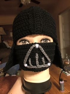 Darth Vader crocheted hat #busybescrocheting