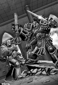Garviel Loken was the Captain of the Luna Wolves (later Sons of Horus) Fantasy Star, High Fantasy, Sci Fi Fantasy, Dark Angels 40k, Sons Of Horus, The Horus Heresy, Warhammer 40k Art, Fantasy Fiction, Marvel
