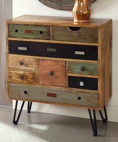 399.99-COAST TO COAST 29.5W X 14D X 32H Another great find on #zulily! Mango Wood Nine-Drawer Chest #zulilyfinds