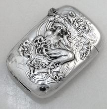 Sterling Silver Art Nouveau Match Safe 1890