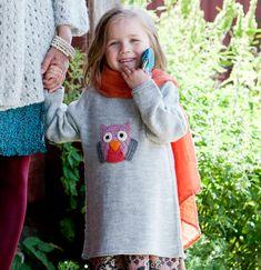 Neuleohje: Tunika tytölle –  Katso ohje: Kotiliesi.fi - Knit tunic for a little girl