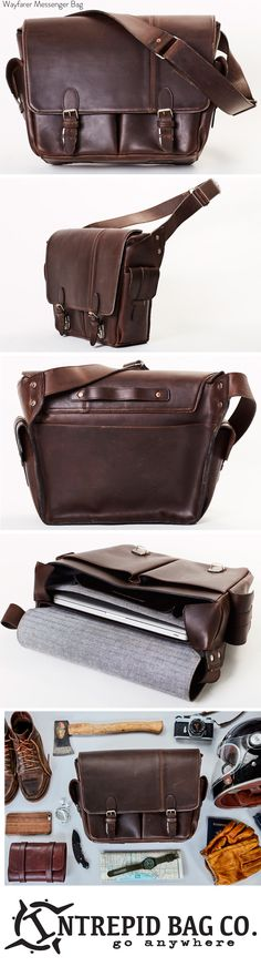 787cb686c Wayfarer Leather Messenger Bag – The Intrepid Bag Co   Leather Bags and  Accessories