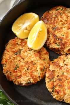 These Lemony Salmon Patties are light, tender, have a delicious hint of lemon, and they're loaded with Omega 3s. Heart-healthy Omega-3 fat found in salmon is associated with a decreased risk of cardiovascular problems, such as heart attacks, strokes, heart arrhythmias, high blood pressure, and high triglycerides circulating in the blood. These benefits are best …