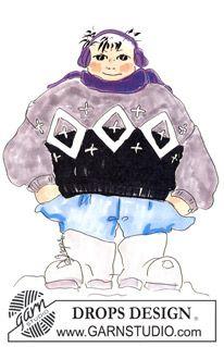 DROPS sweater i Alaska med Nordisk firkantmønster DROPS design: Model nr X-038 ~ DROPS Design