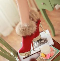 Fashion Fox sexy -High Heels Boots High Heel High Heels Boots (black,blue,red)