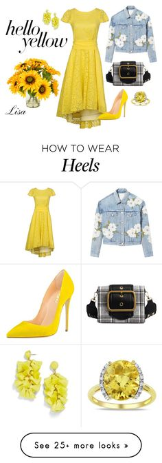Designer Clothes, Shoes & Bags for Women How To Wear Heels, Rebecca Taylor, Cute Fashion, Yellow, Creative, Polyvore, Outfit Ideas, Outfits, Clothes