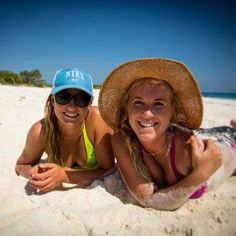 Bethany Hamilton and her friend Lakey Peterson <3