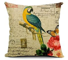 East Melody® Cotton Linen Square Decorative Throw Pillow Cover Cushion Case Pillow Case 18 X 18 Inches / 45 X 45 cm, Small Fresh Garden Parrot (parrot 03) East Melody http://www.amazon.com/dp/B00UV2O0QC/ref=cm_sw_r_pi_dp_02Lcvb12AM4RW