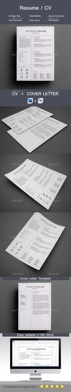 clean resume - Simple Resume Cover Letters