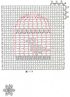 Doily of cage (cage birds grid-knitting with knitting figure): Crochet a little