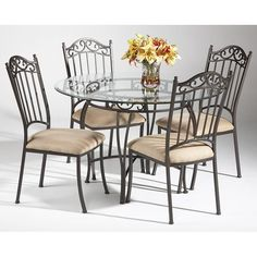 Glass Top Wrought Iron Dining Table Foter Tables Pinterest - Glass and wrought iron dining table and chairs